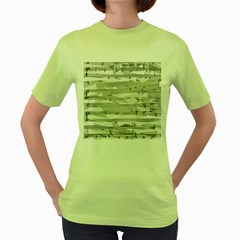 Confetti Music Art Modern Women s Green T Shirt