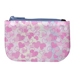 Valentine Background Hearts Large Coin Purse