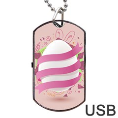 Easter Egg Dog Tag Usb Flash (two Sides)