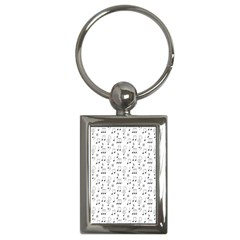 Music Notes Background Key Chain (rectangle)