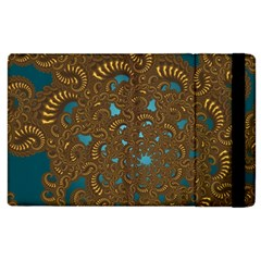 Fractal Abstract Apple Ipad 2 Flip Case by Bajindul