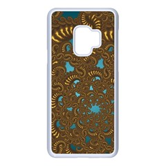 Fractal Abstract Samsung Galaxy S9 Seamless Case(white) by Bajindul