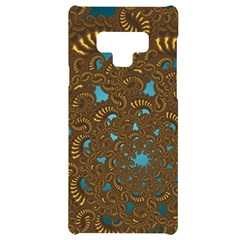 Fractal Abstract Samsung Note 9 Black Uv Print Case  by Bajindul