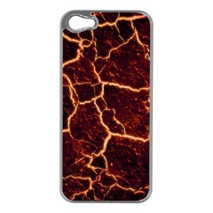 Lava Fire Iphone 5 Case (silver) by Bajindul