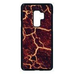 Lava Fire Samsung Galaxy S9 Plus Seamless Case(black) by Bajindul
