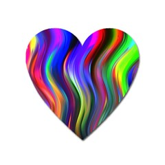 Lines Swinging Plasma Cross Heart Magnet by Bajindul