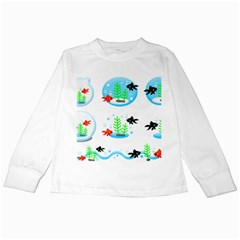 Fish Goldfish Water Kids Long Sleeve T-shirts