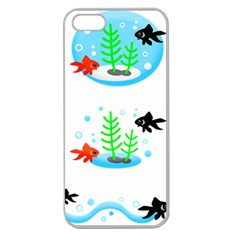 Fish Goldfish Water Apple Seamless Iphone 5 Case (clear) by Bajindul