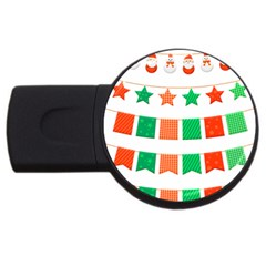 Christmas Bunting Banners Tasse Usb Flash Drive Round (4 Gb)