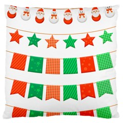 Christmas Bunting Banners Tasse Standard Flano Cushion Case (one Side)