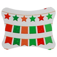 Christmas Bunting Banners Tasse Jigsaw Puzzle Photo Stand (bow) by Bajindul