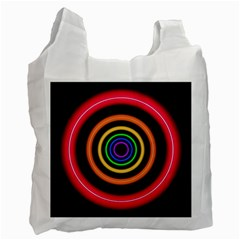 Neon Light Abstract Recycle Bag (two Side)