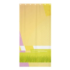 Geometric Botany Brochure Shower Curtain 36  X 72  (stall)  by Bajindul
