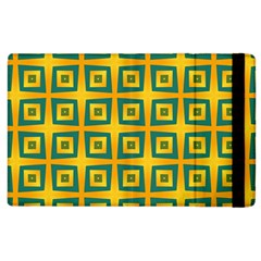 Green Plaid Star Gold Background Apple Ipad 2 Flip Case by Alisyart