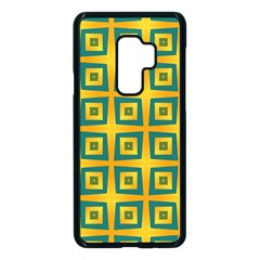 Green Plaid Star Gold Background Samsung Galaxy S9 Plus Seamless Case(black) by Alisyart