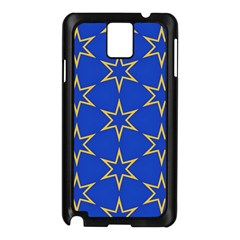 Star Pattern Blue Gold Samsung Galaxy Note 3 N9005 Case (black) by Jojostore