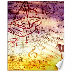 Scrapbooking Paper Music Canvas 16  X 20  by AnjaniArt