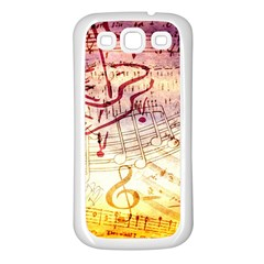 Scrapbooking Paper Music Samsung Galaxy S3 Back Case (white)