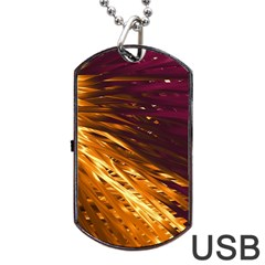 Lines Curlicue Fantasy Colorful Dog Tag Usb Flash (two Sides)