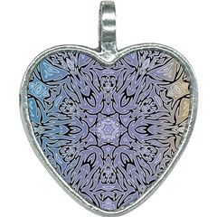 Mosaic Pattern Heart Necklace by Bajindul