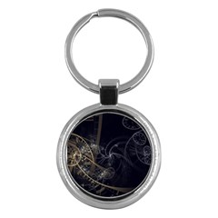 Fractal Abstract Rendering Key Chain (round) by Bajindul