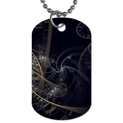 Fractal Abstract Rendering Dog Tag (two Sides)