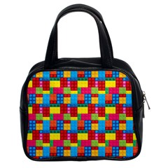 Lego Background Classic Handbag (two Sides) by HermanTelo