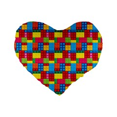 Lego Background Standard 16  Premium Heart Shape Cushions