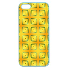 Green Plaid Gold Background Apple Seamless Iphone 5 Case (color) by HermanTelo