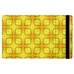 Green Plaid Gold Background Apple Ipad 3/4 Flip Case by HermanTelo