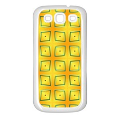 Green Plaid Gold Background Samsung Galaxy S3 Back Case (white)