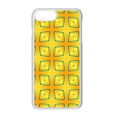 Green Plaid Gold Background Iphone 8 Plus Seamless Case (white)