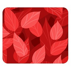 Leaf Design Leaf Background Red Double Sided Flano Blanket (small)  by Pakrebo