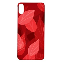 Leaf Design Leaf Background Red Iphone X/xs Soft Bumper Uv Case
