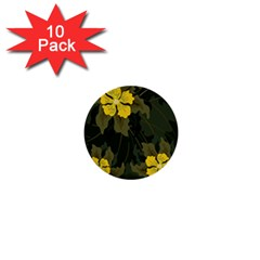 Flower Vector Background 1  Mini Buttons (10 Pack)