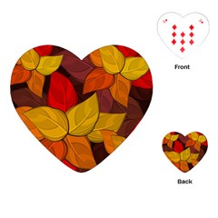 Flower Background Flower Design Playing Cards Single Design (heart)