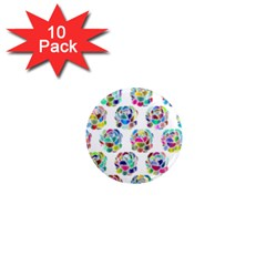 Flowers Floral Pattern Decorative 1  Mini Magnet (10 Pack)