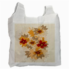 Flower Vector Background Recycle Bag (two Side)