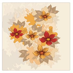 Flower Vector Background Large Satin Scarf (square)