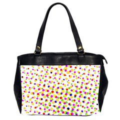 Illustration Abstract Pattern Polka Dot Oversize Office Handbag (2 Sides)