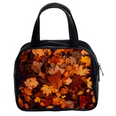 Fall Foliage Autumn Leaves October Classic Handbag (two Sides)