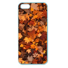 Fall Foliage Autumn Leaves October Apple Seamless Iphone 5 Case (color) by Pakrebo