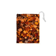 Fall Foliage Autumn Leaves October Drawstring Pouch (xs) by Pakrebo