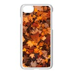 Fall Foliage Autumn Leaves October iPhone 7 Seamless Case (White) Front