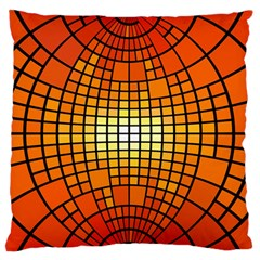 Pattern Background Rings Circle Orange Standard Flano Cushion Case (two Sides)
