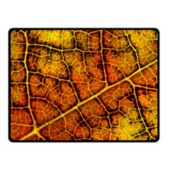 Autumn Leaves Forest Fall Color Fleece Blanket (small)