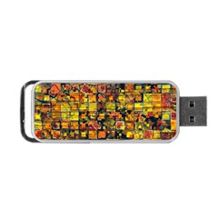 Color Abstract Artifact Pixel Portable Usb Flash (one Side)