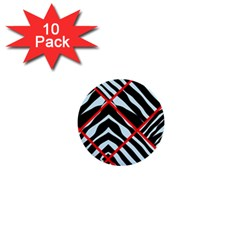 Model Abstract Texture Geometric 1  Mini Buttons (10 Pack)