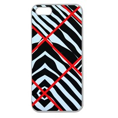 Model Abstract Texture Geometric Apple Seamless Iphone 5 Case (clear)