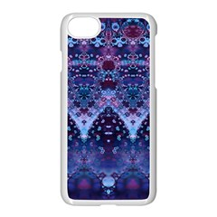 Blue Elegance Elaborate Fractal Fashion Iphone 7 Seamless Case (white) by KirstenStar